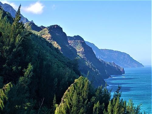 Mountainous coastline