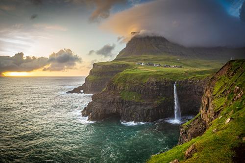 cliff overlooking an ocean