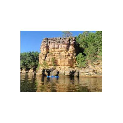 Rocky cliff on a river