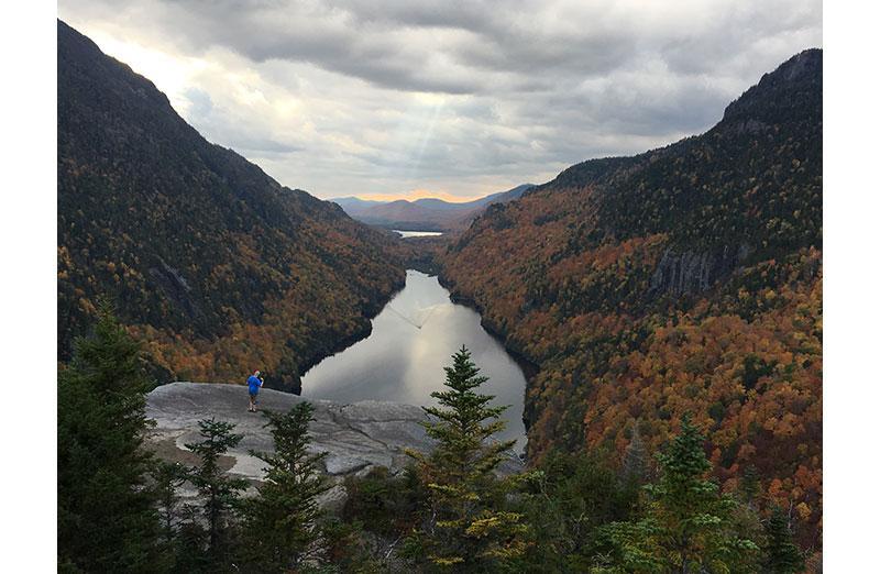 Photo of lake in mountainous region