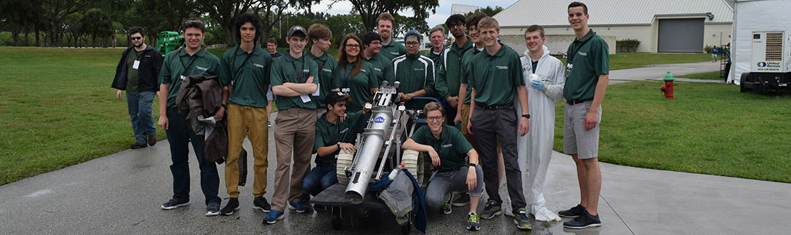 students from the Robotics Team of the Engineering Club