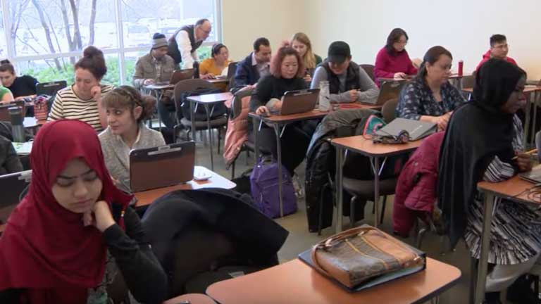 IDEA program students in class